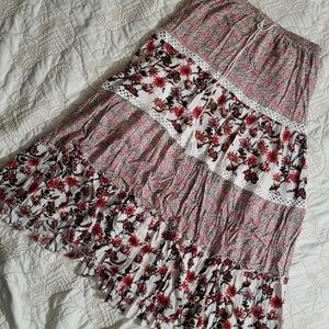 Long Floral Gypsy Skirt